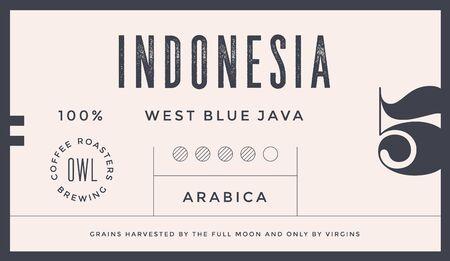 Minimal Label. Typographic modern vintage label, tag, sticker for coffee brand, coffee packing. Retro design minimal label, tag of coffee, classic old school style, typography. Vector Illustration 版權商用圖片 - 145782677