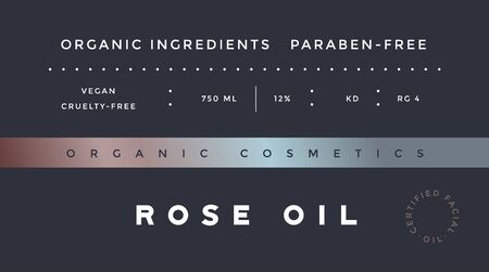Minimal Label. Typographic modern vintage label, tag, sticker for natural brand, beauty packing. Retro design minimal label, tag of organic cosmetics, old school style, typography. Vector Illustration 向量圖像