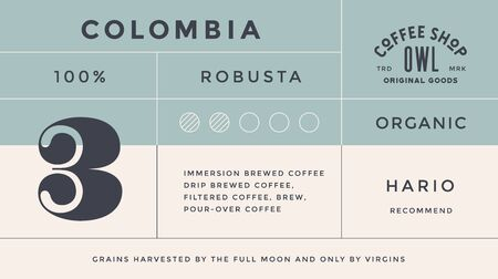 Minimal Label. Typographic modern vintage label, tag, sticker for coffee brand, coffee packing. Retro design minimal label, tag of coffee, classic old school style, typography. Vector Illustration 向量圖像