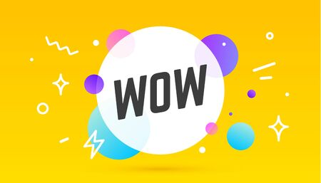 Wow, speech bubble. Banner, poster, speech bubble with text Wow. Geometric memphis style with message Wow for banner, poster. Explosion burst design, speech bubble. Vector Illustration 版權商用圖片 - 146882542