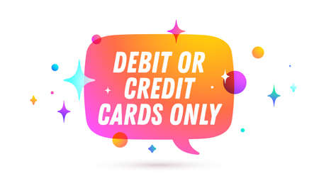 Credit Card Only. Speech bubble. Set of chat message, cloud talk, speech bubble. White speech bubble, cloud talk isolated silhouette with text Credit Card Only. Vector Illustration 版權商用圖片 - 151952061