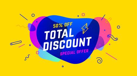 Sale, Discount banner. Speech bubble, banner, poster