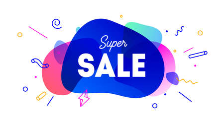Sale, speech bubble. Banner, poster, speech bubble with text Super Sale. 向量圖像