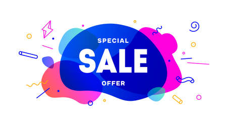 Sale, speech bubble. Banner, poster, speech bubble with text Sale, Special Offer. Geometric style with message Sale for banner, poster. Explosion burst design, speech bubble. Vector Illustration 向量圖像