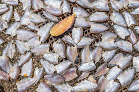 salted: Dried salted fish Stock Photo