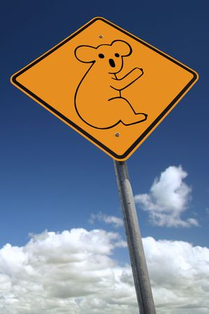 Watch out for koalas Stock Photo - 374659