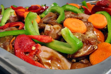 mixture: Chicken stir fry mixture Stock Photo