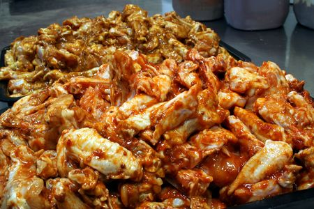 Chicken wing preperation 3 photo