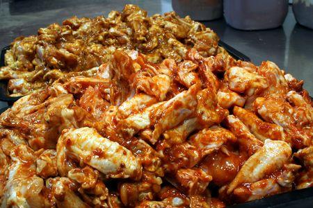Chicken wing preperation 3 photo