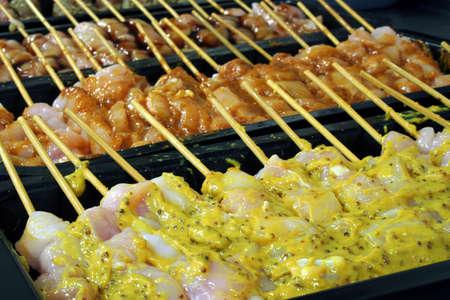 flavoured: Flavoured kebabs
