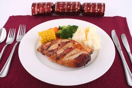 Christmas Chicken Stock Photo - 374623
