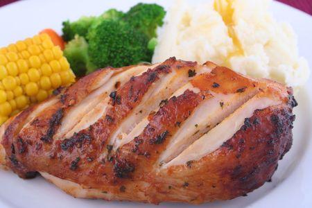 Chicken Dinner Stock Photo