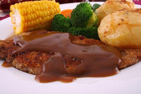 Crumbed steak