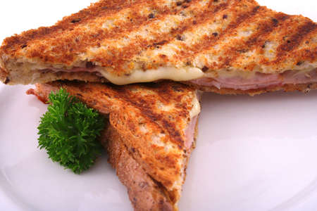 toasted sandwich: Toasted sandwich melting cheese