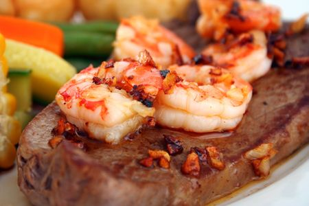 Surf n Turf Stock Photo