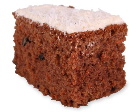Carrot cake with clipping path photo