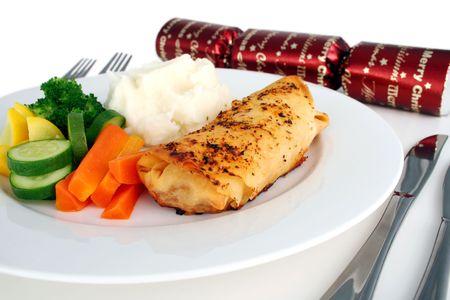 filo: Christmas chicken filo