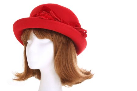 Ladies red hat photo
