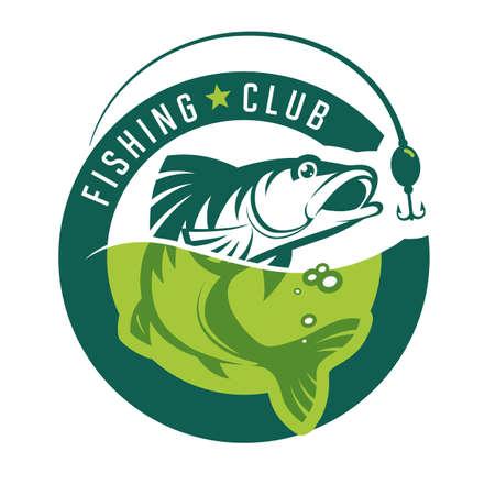 Fishing, stylish fishing club icon.