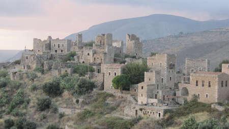 Vathia, the old castle village in Mani, Greece  photo