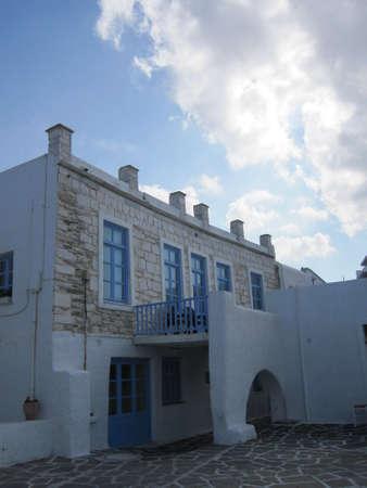cycladic: Tipica vecchia casa Cicladi Naoussa-Paros, Grecia