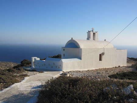 cycladic: Chiesa tipica Cicladi, Grecia Archivio Fotografico