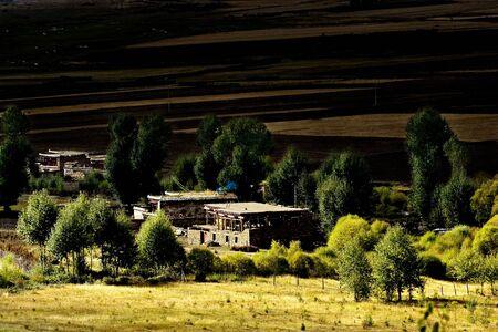 yunnan: Day view of Bamei Village at Yunnan Province China Stock Photo