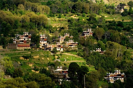 sichuan province: Jiaju Tibetan folk house at Danba, Sichuan Province China