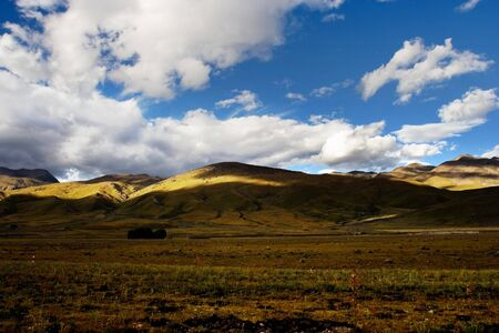 sichuan province: Day view of highland at Daocheng Sichuan Province China Stock Photo