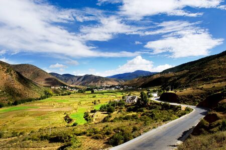 sichuan province: Day view of highland at Derong villages of Sichuan Province China