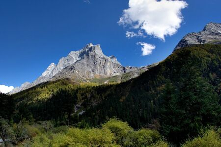 sichuan province: Day view of Eagle Peak at Sichuan Province China