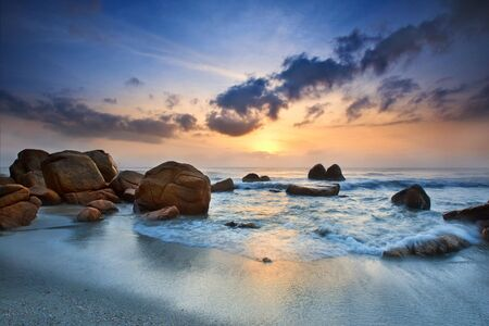 pahang: sunrise view at seaside Kuantan Malaysia