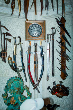 The collection of edged weapons