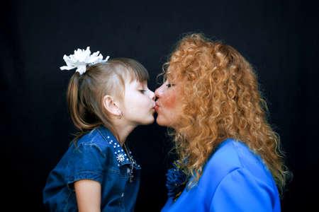 Black girls kissing each other
