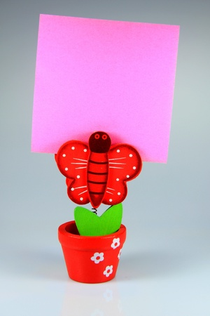 Memo notes with smart homemade colored clips Stock Photo - 14513430