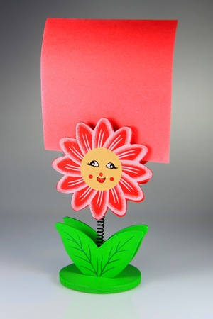 Memo notes with smart homemade colored clips Stock Photo