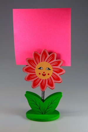 Memo notes with smart homemade colored clips photo