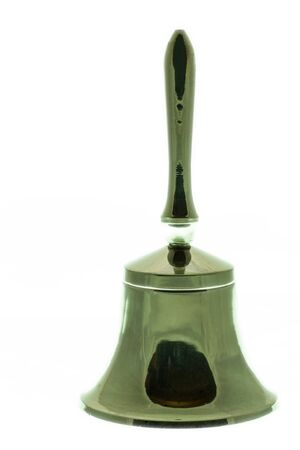 A closeup of a  little bell on white background Stock Photo - 17271333
