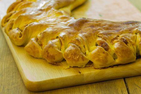 stracchino: Focaccia stuffed with bacon stracchino cheese