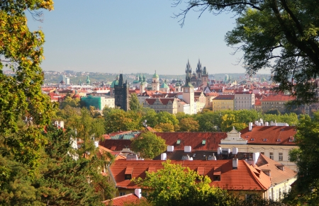 Beautiful and picturesque spot of the city of Prague photo