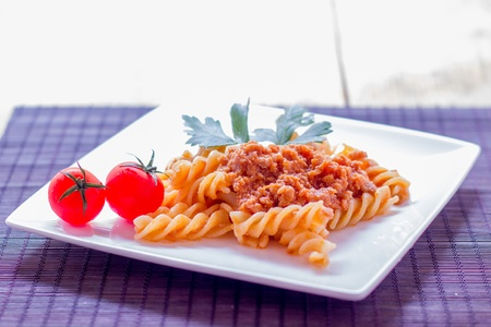 Pasta al rag� from Bologna Italy photo