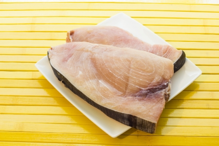Slice of swordfish photo