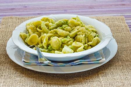 Orecchiette con le cime di rapa from Puglia Italy
