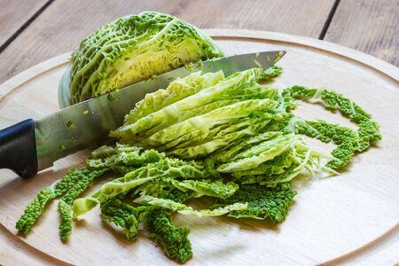 Savoy cabbage Standard-Bild