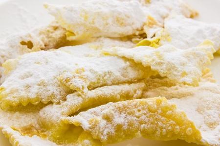 Sfrappole di carnevale bolognesi from italy photo