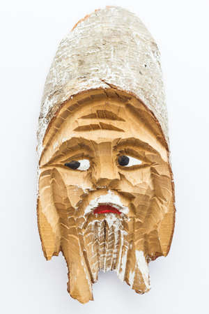 Leprechaun mascot of wood photo