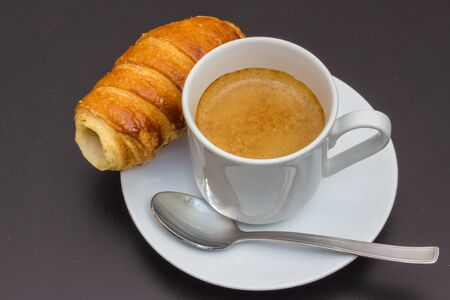 Strong and tasty Caffe espresso from italy photo
