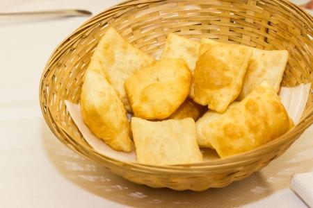 Gnocco fritto from Modena Italy Stock Photo