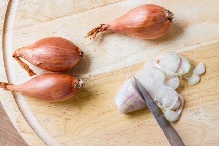 A close-up view of shallot Stock Photo