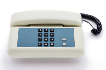 Close up view of a telephone keyboard photo